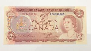 1974-Canada-2-Two-Dollar-BZ-Prefix-Canadian-Uncirculated-Banknote-E973