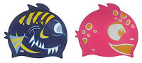 CHEX 100% Silicone Fish Shark Fin Junior Kids 3-7 Yrs Swimming Swim Hat Cap Pink