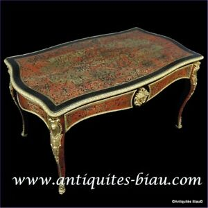 Desk in marquetry Boulle 19th Napoléon III period