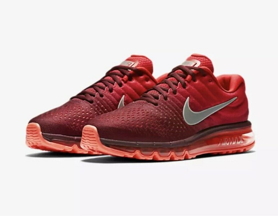 Men's Nike Air Max 2018 Running Shoes Maroon Red / White Sz 6 849559 601
