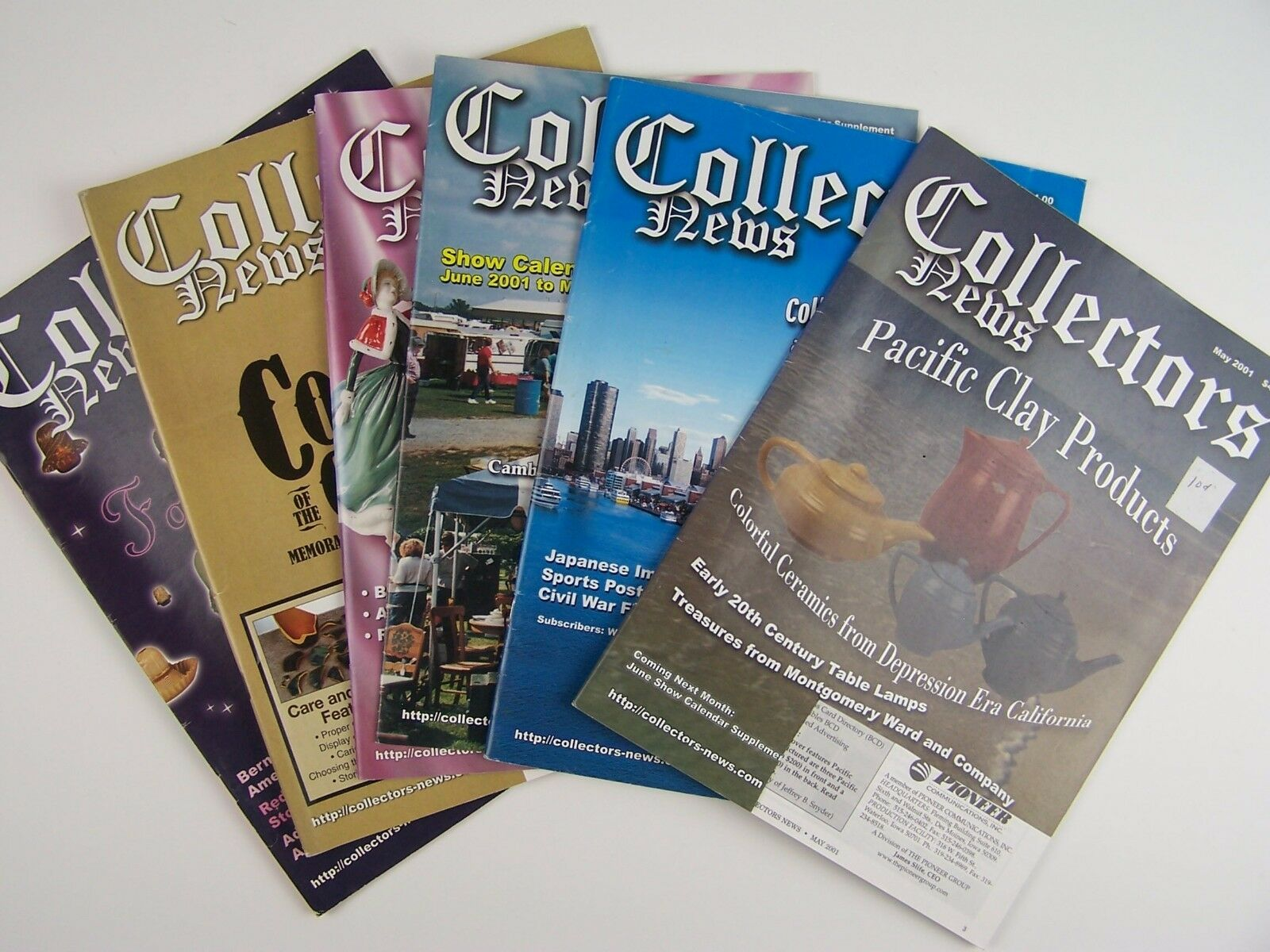 Collectors News Magazine 10 Piece Lot 2001-2002 Era