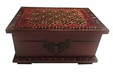Polish Handmade Celtic Wood Small Chest Secret Lock Puzzle Box Celtic Keepasake