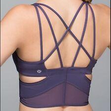 Lululemon Sports Bra Purple Size 6 WOW!!