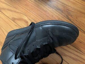 Nike-Air-Jordan-1-Mid-Black-Retro-Basketball-Shoes-554725-011-Boys-Size-4-5-Y