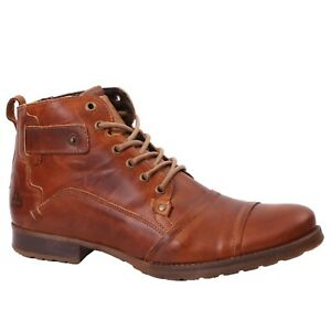 bfed9e393954a Details about Men's Bull Boxer BOOT B358-K5-3031B Cognac Lace-up Ankle Boot  Shoes