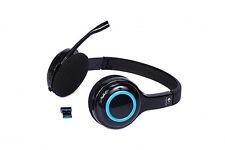 Logitech Wireless Computer Headset H600 Noise Cancellation 981-000341 Black Blue
