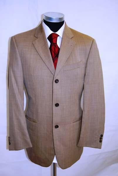 Joop Sakko Original Einreiher Braun Unifarben Schurwolle Gr. 48     | Großartig  | Billiger als der Preis  | Haltbarer Service