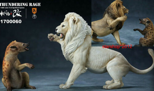 1//12 Thunderfury African Lion/&Spotted Hyena Mr.Z Figure Animal Statue Model Toy