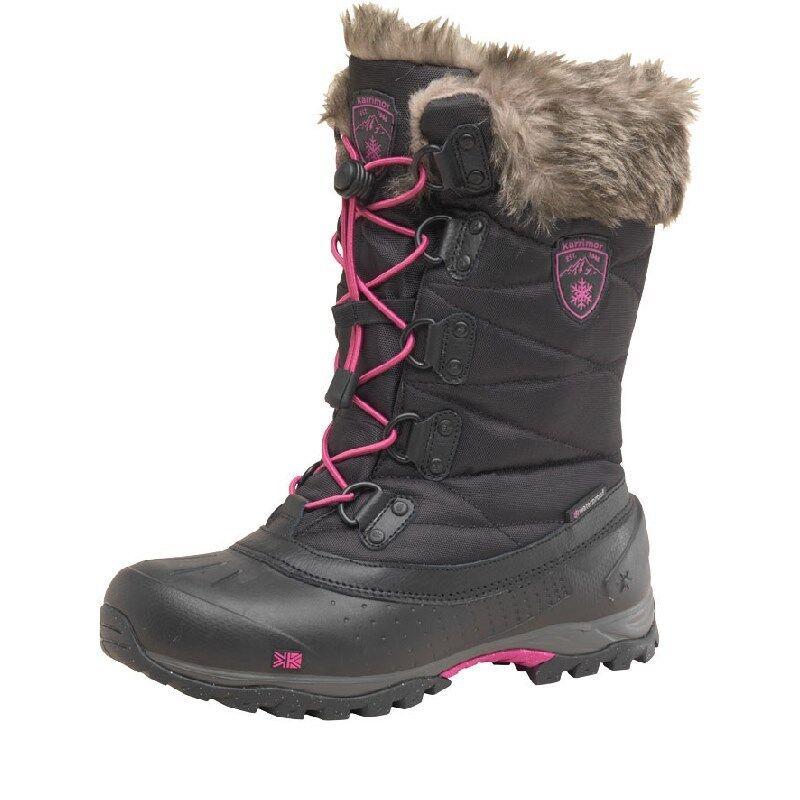 Karrimor Para Para Para Mujeres botas de nieve, Karrimor Alaska botas De Nieve-resistente al agua-Negro 3-9  más vendido