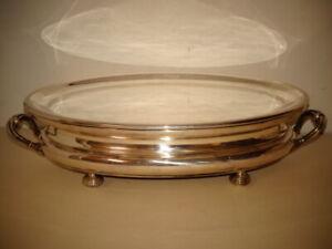 Grand chauffe-plat ovale en métal argenté.Halphen,Christofle.