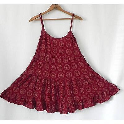 Brandy Melville Mini Dress Tiered Ruffle Open Back Badydoll Size 32(XS/S)