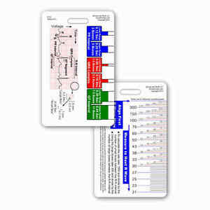 EKG-Ruler-Vertical-Badge-ID-Card-Reference-Pocket-Guide-RN-Nurse-Paramedic-ECG