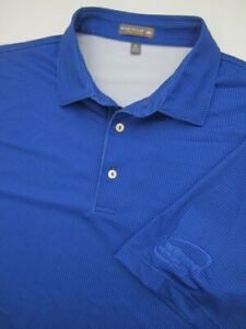 Mens-XL-Peter-Millar-Summer-Comfort-blue-golf-polo-shirt