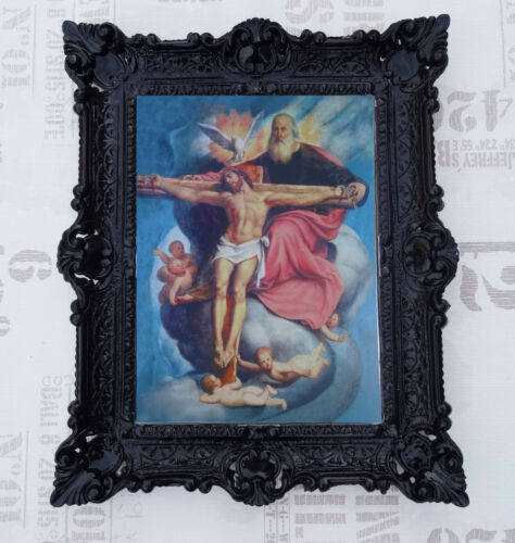 Painting Jesus Maria Icon Holy Picture With Frame 56x46 cm RELIGIOUS PICTURES K16