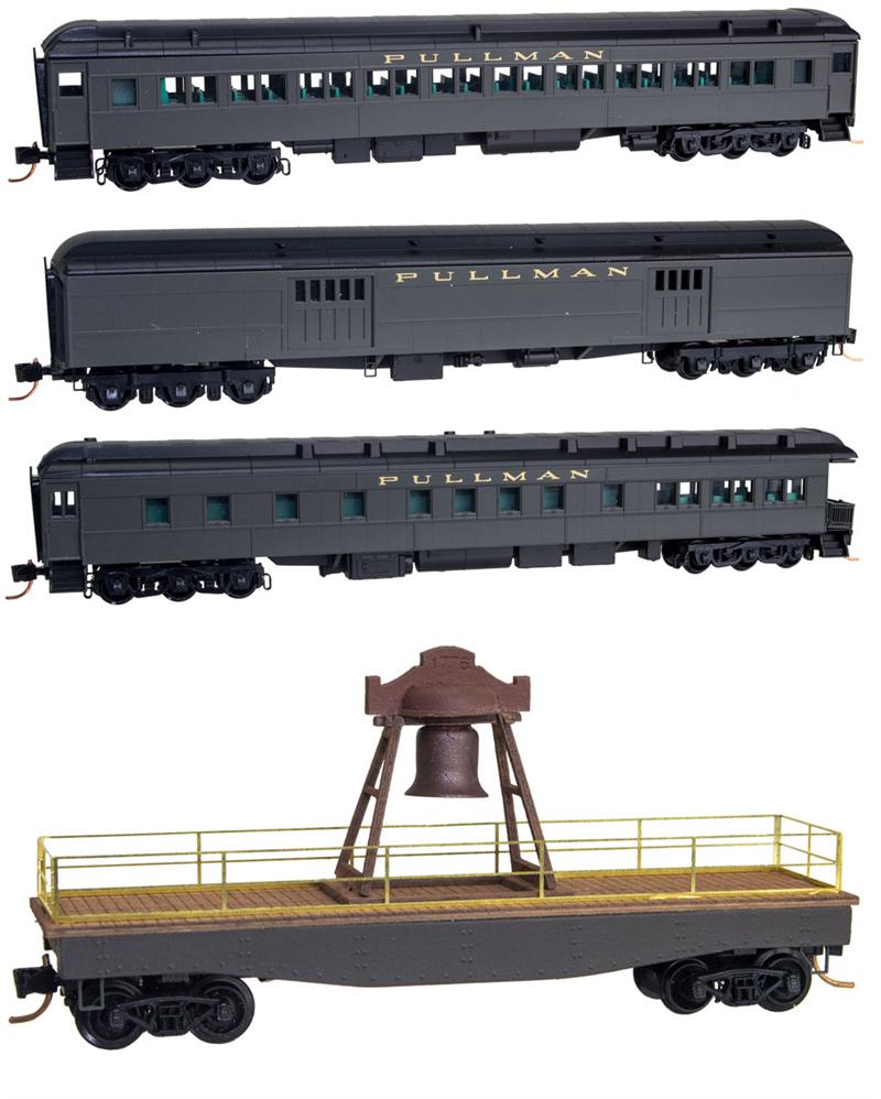 buona qualità Nuovo MICRO-i treni LINE N N N SCALE LIBERTY BELL TRAIN SET COLLECTIBLE QUALITY  di moda