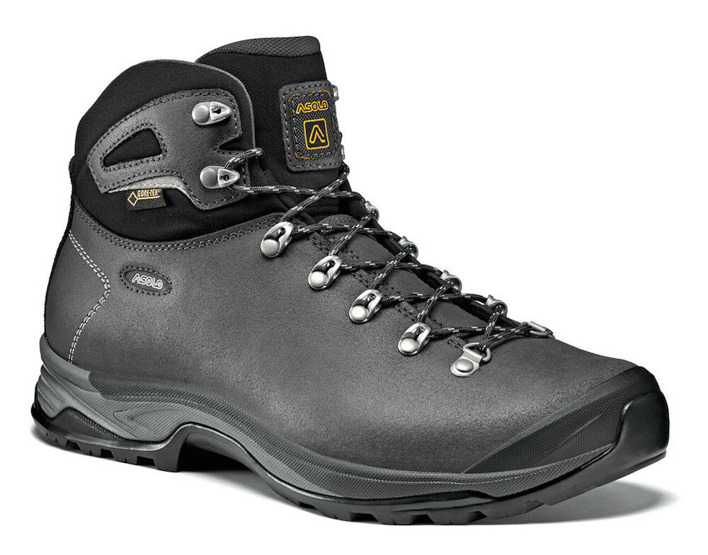 MAN SHOES shoes TREKKING HIKING ASOLO THYRUS GV GORETEX A40000 A124DARKGRAPHITE