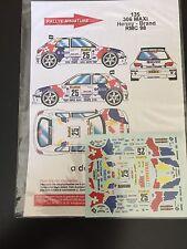 DECALS 1/43 PEUGEOT 306 MAXI HENNY RALLYE MONTE CARLO 1998 RALLY WRC
