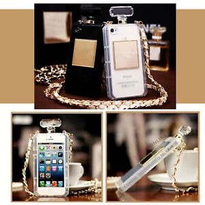 Luxury Perfume Bottle Case Cover w/ Strap For iPhone 11 12 MINI PRO MAX 8 X XS