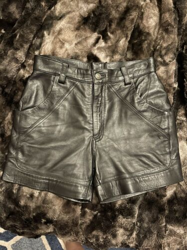 Leather shorts women XS
