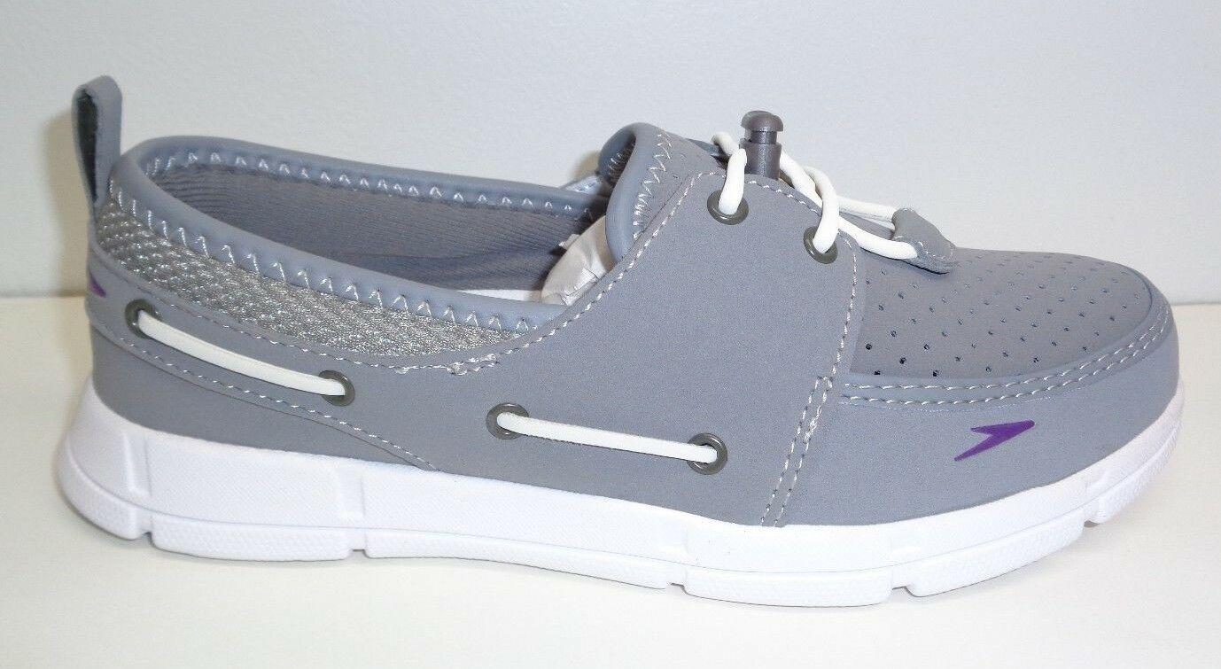 Speedo Taille 6 PORT chaussures gris Boat chaussures Loafers New femmes Water chaussures