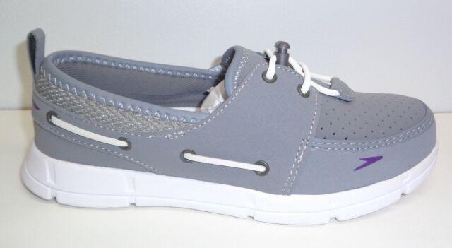 e2b1ddba4e Speedo Size 7 PORT SHOE Grey Boat Shoes Loafers New Womens Water Shoes