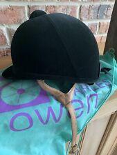 Showjumper//Showing 58cm Charles Owen XP Black Velvet NEW Flesh Harness