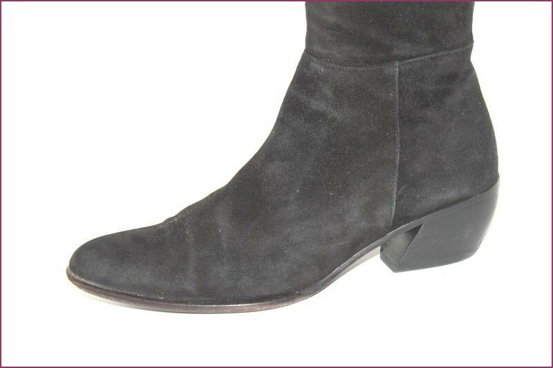 VENISE COLLECTION Bottes Daim Velours black T T T 38.5 TBE ba091d