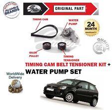 FOR FORD FIESTA 1.4 TDCi 68BHP 2002-> WATER PUMP + TIMING CAM BELT TENSIONER KIT