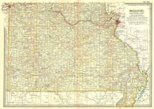 St Louis State Map.Missouri South State Map Showing Civil War Battlefields Dates St