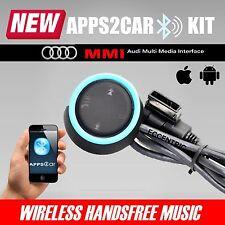 AUDI AMI MMI MDI app 2CAR Bluetooth Auto Kit musica in streaming Vivavoce Chiamata