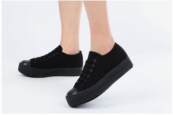Max Mujeres botas Hasta el Tobillo Tobillo Tobillo Zapatos Plataforma deportivos atléticos Informales Cordones De Jean Negro blancoo  mejor moda