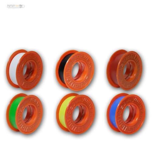 cinta adhesiva isolirband 6 rollos de cinta aislante PVC aislante VDE 601 multicolor