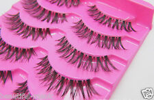 5Pair Wispy Black Long False Eyelashes Eye Lash Makeup Glamorous Fake Lashes #90