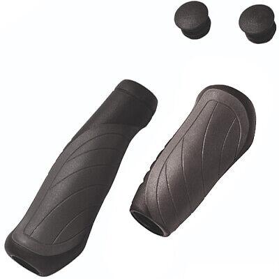 Ergotec OHIO Kraton//Gel Bicycle Bicycle Cycle Handlebar Grips in Black//Grey