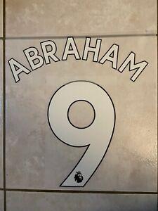 Flocage Nameset Abraham #9 Chelsea 2019-2020 Home Domicile