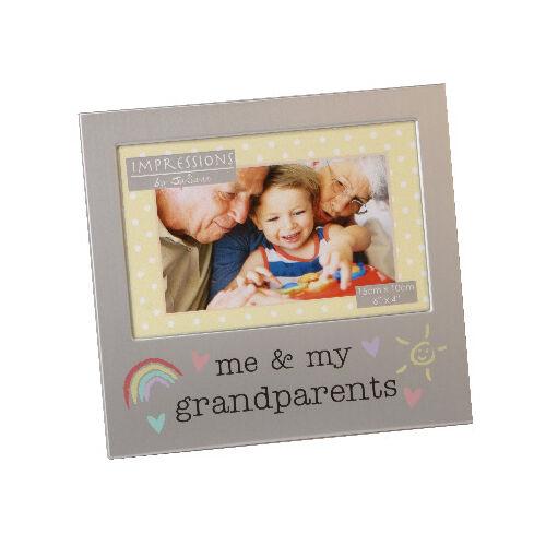 Me and My Grandparents Photo Frame Brushed Aluminium Juliana ...