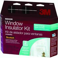 3 Pk 3m 62 W X 84 H Clear Indoor Window Insulation Kit 2/pack Tape Incld 2120