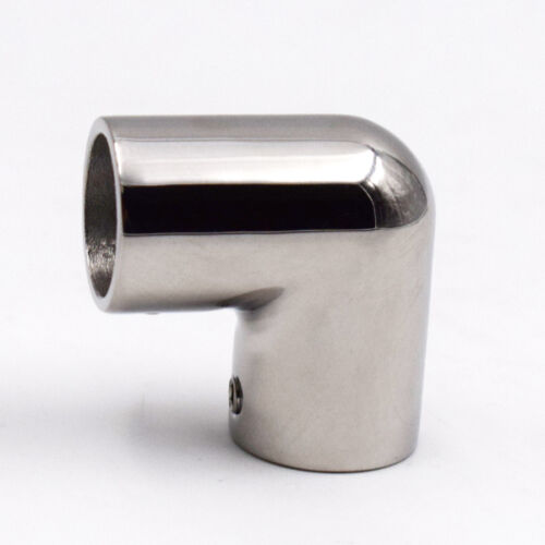 Boat Hand Rail Fitting 90 Degree Elbow Polished Stainless Steel For pipe 7//8/'/'