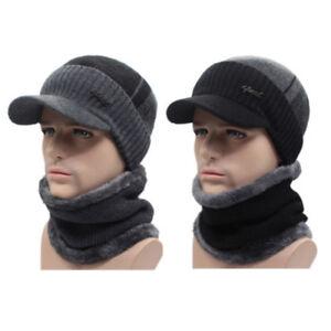 39f12be27f7 Winter Beanies Hat Men Women Wool Scarf   Cap Balaclava Mask Bonnet ...