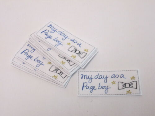 Embroidered My Day As A Page Boy Card Bag Making Motifs Patch #18A62 Set of 10