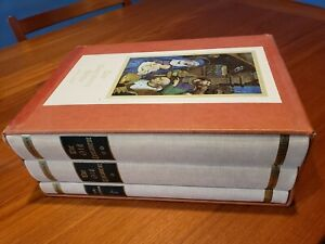RARE-Gutenberg-Bible-Facsimile-3-Volumes-2-OT-1-NT-Slipcase-Cover-Collectible