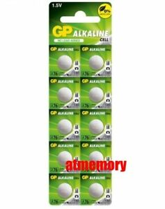 GP-LR44-1-5V-Alkaline-Battery-A76-303-357-L1154-AG13-SR44-x10pcs-EXP-2022
