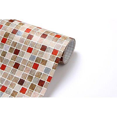 3m * Point Mosaic Tile Interior Sheet Self Adhesive Peel-Stick Wallpaper H18
