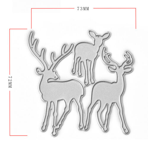 Xmas Cute Elk Deer Metal Cutting Dies Stencil For Scrapbook Ablum Card Embossing