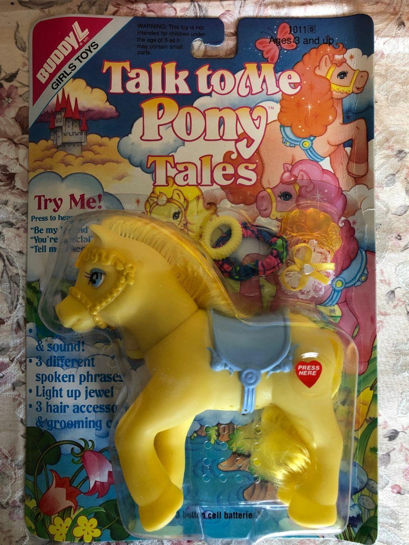 Mitt lilla snack med mig Puny Tales av Buddy L MOC 1991 gul  HAIR Tillbehör