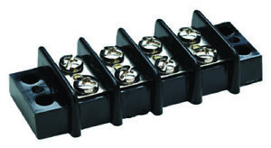 6 Gang Terminal Block Nickel Plated Brass Contacts 30A for Boats//Yacht