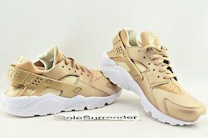 56778727c0a1 Nike Air Huarache Run PRM - SIZE 10 - NEW - 704830-900 Gold White ...