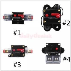 20a 300 amp manual reset circuit breaker 12v 24v car auto boat audio fuse holder ebay. Black Bedroom Furniture Sets. Home Design Ideas