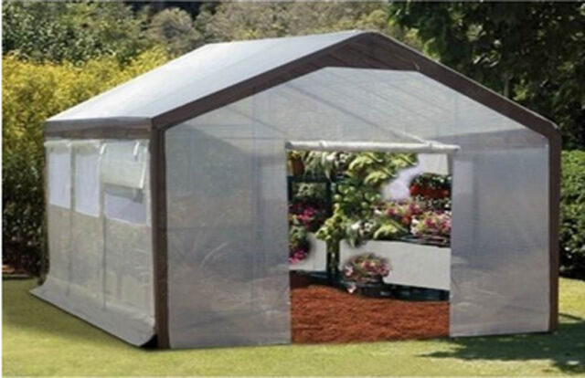 6' W x 8' L x 7' H - Green House - STEEL FRAME - Built in Vents - Walk In