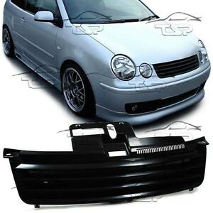 front black grill for vw polo 9n 01 05 no emblem spoiler. Black Bedroom Furniture Sets. Home Design Ideas